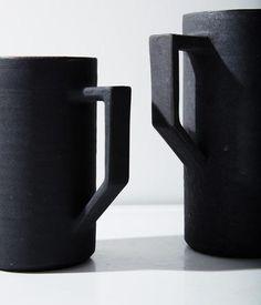 Ash + Stoneware Pitcher