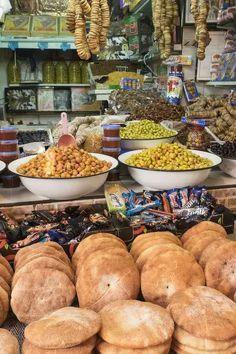 Market Stalls, Mug Decorating, Gifts In A Mug, Africa, Bread, Olives, Marketing, Figs, Store