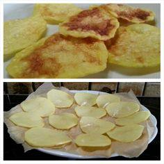 Das sind meine selbstgemachten #kartoffel #chips ... Die sind in 5 Minuten fertig, ohne öl, #gesund und mega knusprig. Ah ja, lecker sind sie natürlich auch ;)