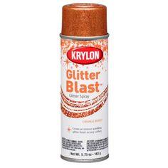 Krylon K3807 5.75Oz Glitter Explosion - Orange Burst