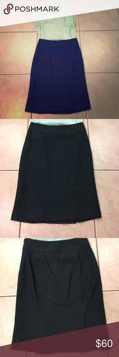 Banana Republic Teal Wool Pencil Skirt Stunning pencil skirt from Banana Republic. Rich, dark teal wool, fully lined, double split tail, side zip with hook and eyelet closure. perfect for Fall/Winter. Never worn. Perfect condition. Remember if you bundle you save even more! 35% on bundles of 3 or more items. Please read my Bundle listing for more details. Banana Republic Skirts Pencil