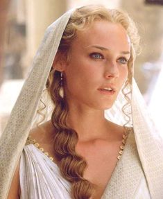 "Diane Kruger as Helen in the movie ""Troy.""  She is so beautiful I can't stand it.  I love the way her makeup looks."
