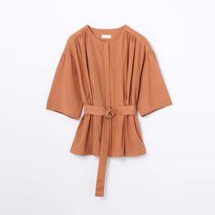 コットンシルク ベルテッドブラウス(11017401732) | シャツ・ブラウス | ウエア | ウィメンズ | Ballsey | トゥモローランド 公式通販 Shirt Blouses, Shirts, Outfits, Shopping, Fashion, Dress, Moda, Suits, Fashion Styles
