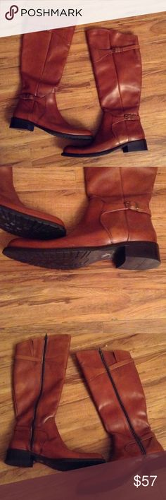 Women's Santana brown leather riding boots size 11 Women's Santana Canada brown leather riding boots. The boots are a size 11 medium width. The boots are in good condition with very little wear. Smoke free home. Shoes