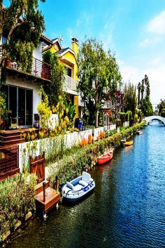 Take a break from the lively Venice Beach and enjoy a peaceful walk through the Venice Canals. Beautiful residential homes of different architectural styles from clean modern bauhaus to old wooden houses line the canal.