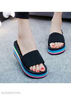 ec3faed972f Mid Heeled Peep Toe Beach Casual Slippers  Shoes  Boots  Sneakers  Pumps   Sandals  berrylook   fashion  style   fashionista  womens sandals   womens boots ...