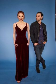 Aidan Turner & Elenor Tomlinson -  RadioTimes Covers Party January 31, 2017