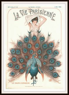 """Beautiful art print Vintage French Magazine Paris Image """"La Vie Parisienne"""" Wall Decor UnframedPrint is Unframed x Ready for framing . Professionally printed on medium weight cardstock French Art, French Vintage, Vintage Art, Vintage Prints, Vintage Posters, Art Et Architecture, Illustration Noel, French Magazine, Peacock Art"""