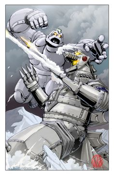 MechaGodzilla vs Mechanikong by KaijuSamurai.deviantart.com on @deviantART