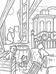 54 best Aristocats Coloring Pages images on Pinterest | Adult ...