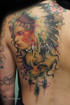 Indian skull tattoo - Jay Freestyle