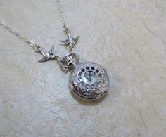 Petite Pocket Watch Necklace at etsy.com for $25.00