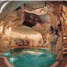 Indoor cave pool !! Via: @mastersofluxury_