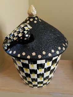 courtly bird jar canister my own mackenzie childs hp check supercrazychick