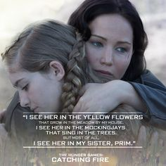 """I feel as if I did know Rue, and she'll always be with me. Everything beautiful brings her to mind."" - Katniss Everdeen on Rue, #CatchingFire"
