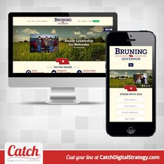 Website for Jon Bruning for Governor