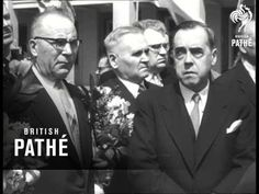 President Urkho Kekkonen of Finland arrives in Moscow, Soviet Union (USSR, Russia). Shake Hands, Soviet Union, Moscow, Finland, Documentaries, Presidents, Law, Blessed, Peace