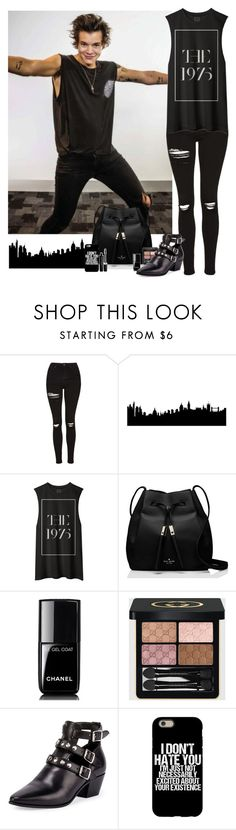 """""""Harry Styles #77"""" by ambere3love34 ❤ liked on Polyvore featuring Topshop, Kate Spade, Chanel, Gucci, Yves Saint Laurent and Marc Jacobs"""