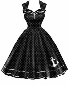 Rockabilly Anchor Dress