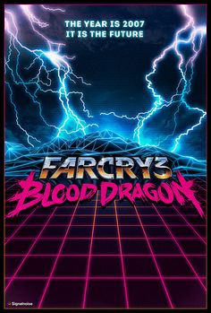 Far Cry 3: Blood Dragon teaser poster by James White