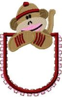 Free Embroidery Design: Applique Pocket Sock Monkey - I Sew Free