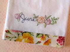 Country Garden Stitchery = months for dishtowels...