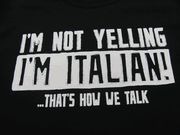 I totally talk loud, I get it from my grandma. I feel like people always think I'm yelling lol Italian Memes, Italian Quotes, Italian Phrases, Italian Girl Problems, Italian Life, Italian Girls, Guter Rat, Me Quotes, Funny Quotes
