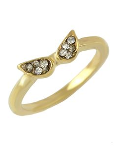 2b94545ac2 SheIn offers Gold Diamond Wing Ring & more to fit your fashionable needs.
