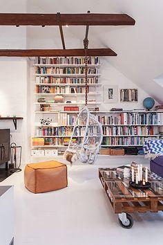 #library #attic #mansarda