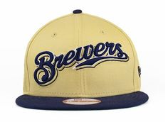 New Era MLB Milwaukee Brewers Snapback Hats Caps Yellow 4109! Only  8.90USD Milwaukee  Brewers 47118c20f6fc