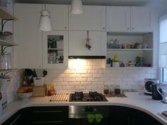 White kitchen Kitchen Cabinets, Home Decor, Kitchen Cupboards, Homemade Home Decor, Decoration Home, Kitchen Shelves, Interior Decorating