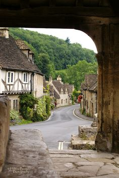 Castle Combe, Wiltshire in the Cotswolds. Castle Combe is a small village in Wiltshire, England England And Scotland, England Uk, Places To Travel, Places To See, Medieval Village, Castle Combe, English Village, English Cottages, Destinations