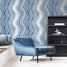 Not a straight stripe in sight. Go bold with a wriggle and a jiggle of a stripe. Main Colors, Colours, Paper People, Home Wallpaper, Room Set, Agate, Accent Chairs, Wall Decor, The Unit