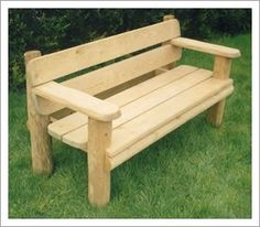3 SEATER CELTIC RUSTIC GARDEN BENCH