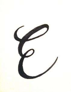 Letter E Typography By Robin Budd Via ScriptTease