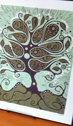 original linoleum relief print.  available framed / unframed.   #original #art #linoleum #printmaking    www.sarniaartwalk.com