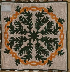 Maile Ilima Hawaiian Quilt Patterns, Hawaiian Quilts, Hawaiian Gardens, Nail Tattoo, Cook Islands, Real Flowers, I Fall In Love, Quilt Blocks, Stitches