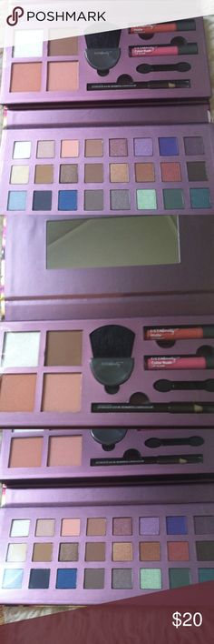 NWT Ulta beauty deluxe makeup palette •Brand new •Makeup includes: 24 eyeshadow shades; Color Rush lip gloss in Brigitte; Matte lip cream in Proper; 2 blushes ; Highlighter; Bronzer; Dual side eyeliner pencil in Black and Brown; half moon face brush; and double ended sponge tip applicator •Case folds and has magnetic closure (perfect for carrying around, travel,etc) •Brand: Ulta beauty •NO TRADES Ulta Makeup