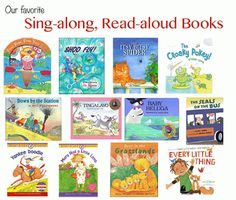 12 favorite sing-along, read-aloud book recommendations!
