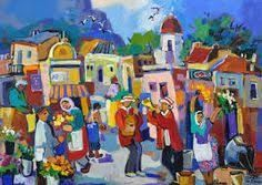Related image South African Artists, Painting People, Landscape Paintings, Whimsical, Mosaic, Folk, Abstract Art, Art Gallery, Sketches