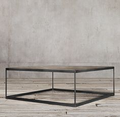 Rh S Reclaimed Russian Oak Parquet Coffee Table Merging Old World And Industrial Influences Our