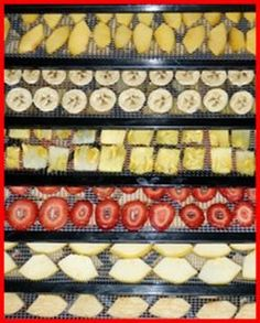 How to dehydrate apples, bananas, pineapples, peaches, cherries, mangos, blueberries, strawberries