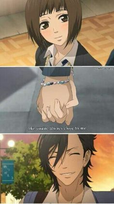 "Suki-tte Ii na yo (Say ""I Love You"" ) I love ❤ this anime!! They are so so so cuteee!!!! Ohhww ^^"