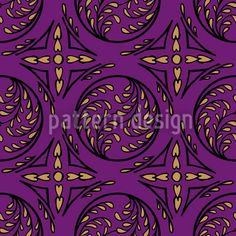 Pintoretto Pure designed by Martina Stadler, vector download available on patterndesigns.com Vector Pattern, Surface Design, Medieval, Pure Products, Gothic, Floral, Pink, Patterns, Inspiration