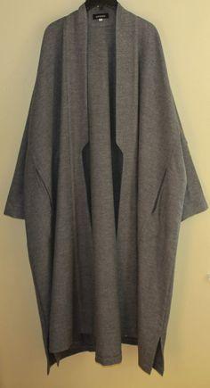 Amazing Eskandar GRAY Imperial Oversized Medium Weight Wool Long Coat Jacket 1 #eskandar #BasicCoat