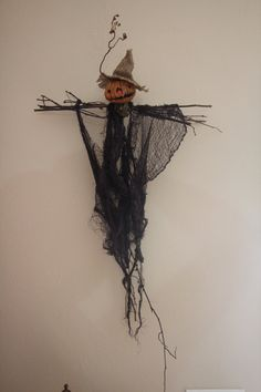 Primitive Scarecrow Doll by AlternateDimensions on Etsy, $45.00