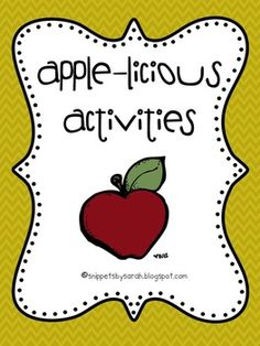 These apple activities are perfect to compliment your apple unit. The activities included are: ~Read and Sequence: apple life cycle ~What an apple. 1st Grade Activities, September Activities, Apple Activities, Sequencing Activities, Autumn Activities, Kindergarten Themes, Kindergarten Science, Preschool Themes, Elementary Science