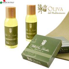 Linea cortesia BIO personalizzata agli estratti di olio di oliva. Tutto Made in Italy per un mondo sempre più Ecofriendly. By www.alfera.it