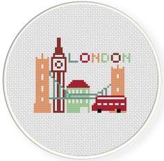 London Cross Stitch Pattern