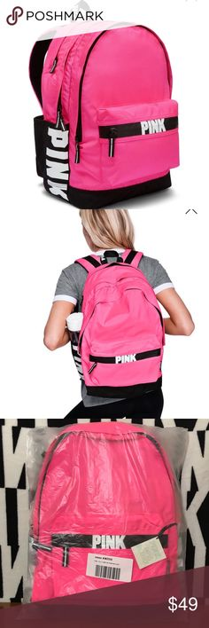 VS PINK CAMPUS BACKPACK PINK ON FLEEK NEW NIP NWT NEW WITH TAG OR NEW IN PACKAGE  ❌PRICE IS FIRM❌(unless bundled) ❌NO TRADES❌ ✅AUTHENTIC ALWAYS ✅ PINK Victoria's Secret Bags Backpacks
